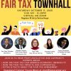A flyer for an Asian American Fair Tax Townhall
